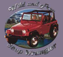 Jeep Wrangler Wild and Free Kids Tee