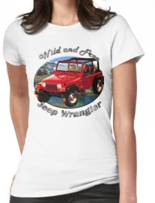Jeep Wrangler Wild and Free Womens Fitted T-Shirt