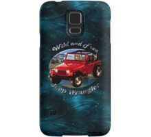 Jeep Wrangler Wild and Free Samsung Galaxy Case/Skin