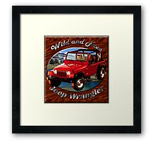 Jeep Wrangler Wild and Free Framed Print
