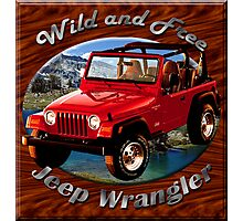 Jeep Wrangler Wild and Free Photographic Print
