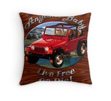 Jeep Wrangler Anytime Baby Throw Pillow
