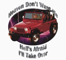 Jeep Wrangler Heaven Don't Want Me Kids Tee