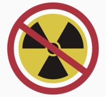 No nuclear radiation symbol stickers by Mhea