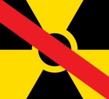 No nuclear radiation symbol Sticker
