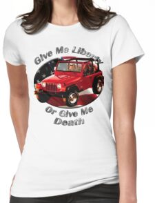 Jeep Wrangler Give Me Liberty Womens Fitted T-Shirt