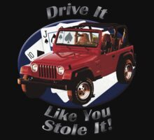 Jeep Wrangler Drive It Like You Stole It Kids Clothes