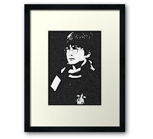 The Boy Who Lived - Typographic Poster Framed Print