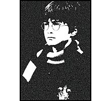 The Boy Who Lived - Typographic Poster Photographic Print