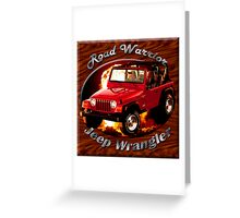 Jeep Wrangler Road Warrior Greeting Card