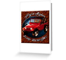 Jeep Wrangler Night Rider Greeting Card