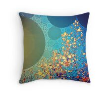 Leaves and Sky Abstract Throw Pillow