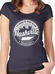 NASHVILLE Women's Fitted Scoop T-Shirt