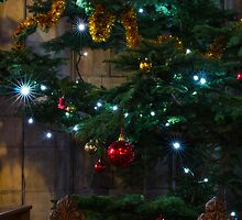 Tree Lights and Baubles by Ian Mitchell
