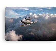 Spitfires among clouds Canvas Print