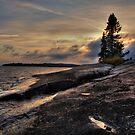 Lake Superior near Thunder Bay by Dawne Olson