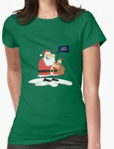 CLAUS HATE XMAS Womens Fitted T-Shirt