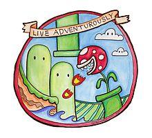 Live Adventurously Photographic Print