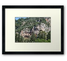 Dalyan Lycian Rock Tombs Framed Print