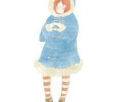 Winter Coffee Girl by Hollarino