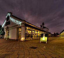 Tiverton Market by dusk by Rob Hawkins