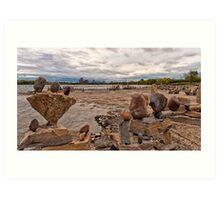 River Sculptures Art Print
