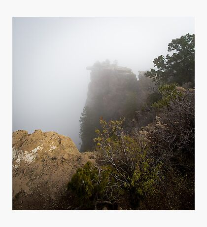 The Rare Grand Canyon covered with puffy fog Photographic Print