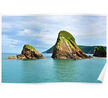 Beautiful British seascape Poster
