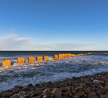 Lossiemouth, West Beach in winter. by JASPERIMAGE