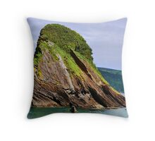 Beautiful British seascape Throw Pillow