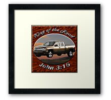 Chevy Silverado Truck King Of The Road Framed Print