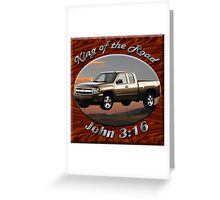 Chevy Silverado Truck King Of The Road Greeting Card