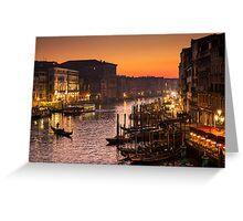 Venice at sunset Greeting Card