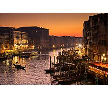 Venice at sunset Photographic Print