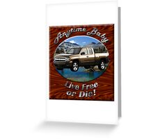 Chevy Silverado Truck Anytime Baby Greeting Card