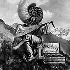 Mountainside Lute Player. by nawroski .