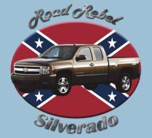 Chevy Silverado Truck Road Rebel Kids Tee