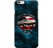 Chevy Silverado Truck Give Me Liberty iPhone Case/Skin