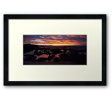 Sunset reflected glow Framed Print