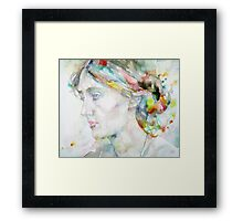 VIRGINIA WOOLF - watercolor portrait.4 Framed Print