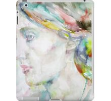 VIRGINIA WOOLF - watercolor portrait.4 iPad Case/Skin