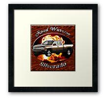 Chevy Silverado Truck Road Warrior Framed Print