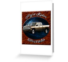 Chevy Silverado Truck Night Rider Greeting Card