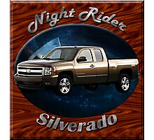 Chevy Silverado Truck Night Rider Photographic Print