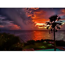 Stunning Red Sunset Photographic Print