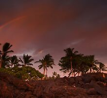 Rainbow at sunset by Kenji Ashman
