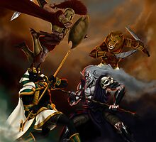 Battle of Gods by domeddi