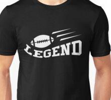 Football legend t-shirt, white on dark shirt Unisex T-Shirt