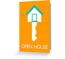 open house home key Greeting Card