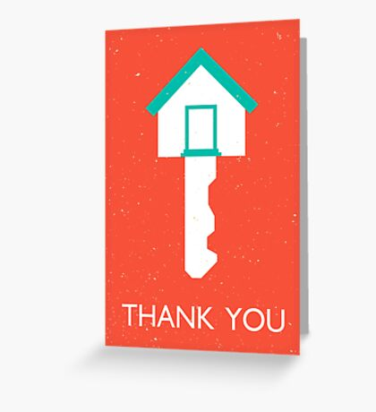 thank you home key Greeting Card